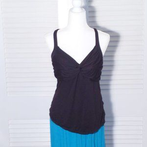 Daisy Fuentes Black Fitted Bodice Top